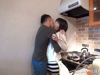 Quickie shacking up in the kitchen and bedroom with Asian chick Anri