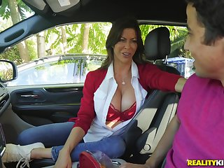 Long legged MILF bombshell Alexis Fawx devours dick and fucks