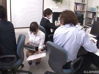 Hardcore office fuck with Japanese Ayami Shunka in a tight skirt