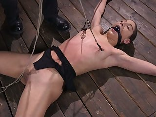 Emotional naked whore Abella Adventure deserves in shrink from crucified and hogtied