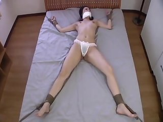 Japanese Girl Spread and Tickled
