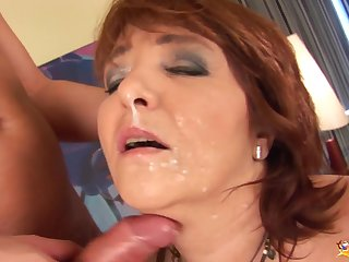 chubby curvy redhead mom enjoys her first heavy horseshit anal fucking