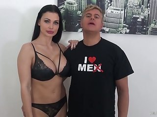 Perfect fat boobed Aletta Zillions strokes and blows really long BBC