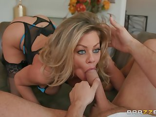 Blue eyes goddess enjoys dick in powerful XXX