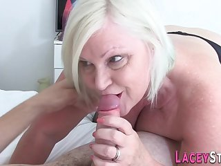 Granny Gives Hard Sex Bj to a Fat Dick