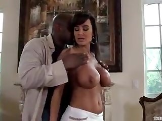 Lisa Ann gets drilled by an ebony spear