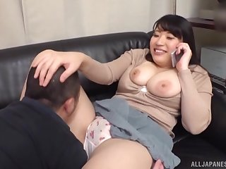 Fat Japanese slut Westminster on the phone straight away fucking