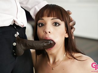Petite latiana Matilde Ramos gives rimjob with an increment of made love by