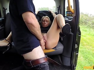 Gorgeous MILF Nova Shields gets pounded in the fake taxi