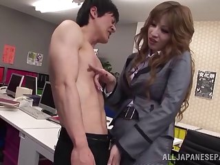 Hot secretary from Japan procurement their way fanny pleasured well