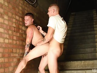 Full anal obedience for the naked gay lover