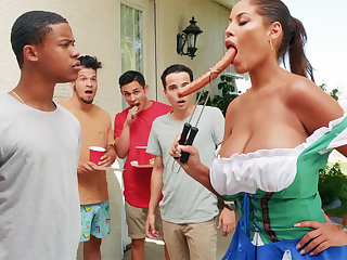 Hardest Oktoberfest group sexual relations for drunk wife