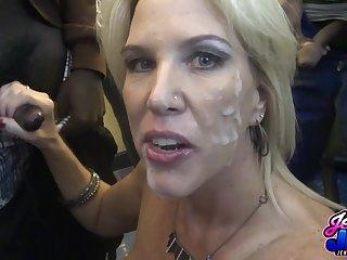 Matured whore moronic bukkake porn video