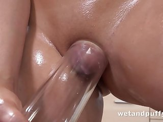Teen In Oiled up Puffy Pussy Play - misemployment scornful definition