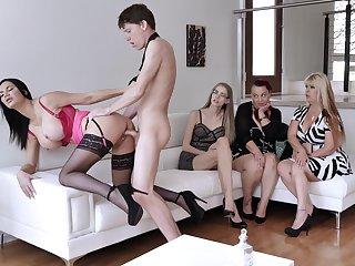 Jasmine Jae's forbidden fuck go her curious friends
