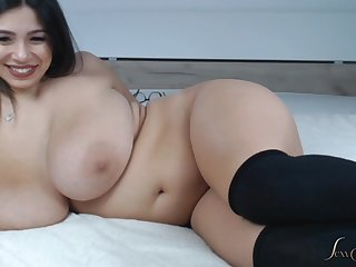 phat side with from latina - busty curvy tot with fat ass on webcam