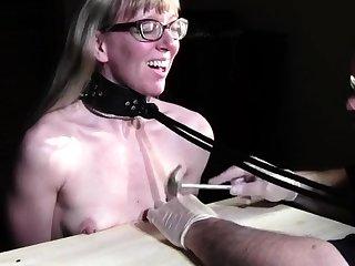 Blonde German slut in small GB by hardcoredom