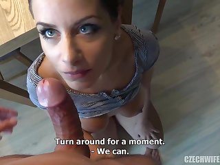 Czech femmes were deepthroating sausages in front be fitting of the camera, because many be fitting of them when requested cash
