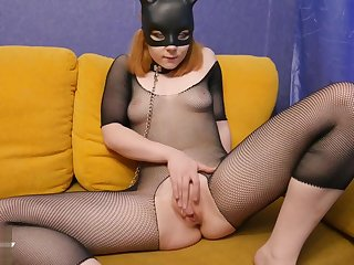 Bunny Woman Masturbate and Hard Fuck Big Dick Man - Soft BDSM