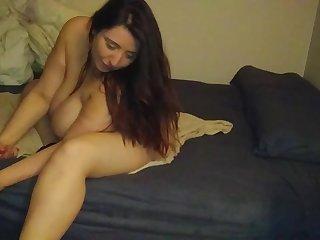 FatNBustyJerseyJenn Shaking her Huge Floppy tits and Sloppy body =)  Please comment...