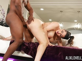 black hunk shows this curvy pain in the neck woman proper hardcore fucking