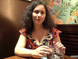Hot curly amateur Amalia fucked hard