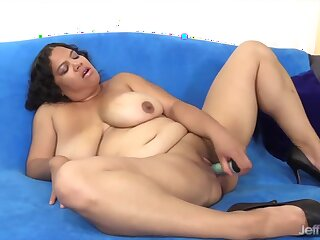 Horny BBWs enjoy teasing their pussies with sex toys like dildo and vibrators