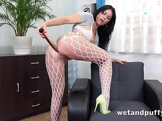 Sex nutty as a fruit cake whore Julia Black is masturbating cunt with vaginal speculum