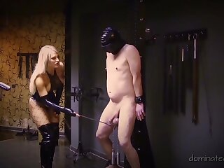 Ugly pretty good wife Calea Toxic enjoys torturing her submissive economize on