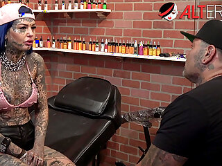 Behind the scenes with tattooed beauty Amber Luke