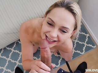 Best POV sucking and screwing with active blonde Aften Opal