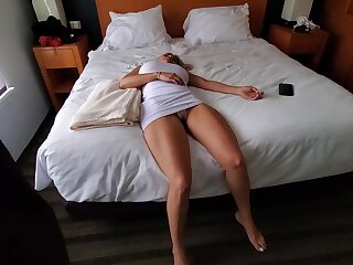 Knocked overseas blonde with big boobs is about to become a lose one's heart to doll for a horny guy