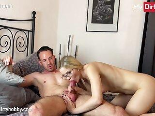 MyDirtyHobby - Stunning blonde whittle in lingerie fucks director