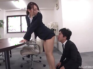 Kase Kanako gets the brush cunt licked clean with an increment of penetrated in the meeting