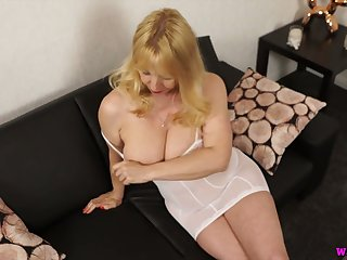 Ardent light haired whore with saggy tits Lucy Gresty wanna wank a bit