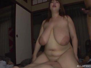 Yuuki didn't take on oneself twice before having two hard dicks in her mouth