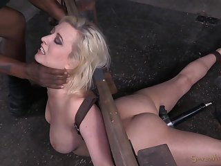 Cherry Torn spreads her legs for a friend's sex toys on the floor