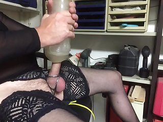 In Nylons with Fleshlight