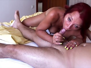 This redhead is a ravenous hooker all over a talent for dick riding