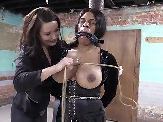 Busty nefarious concomitant girl - lesdom porn