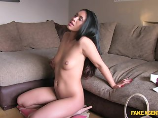 Hannah with nice natural special fucked during the vocation interview