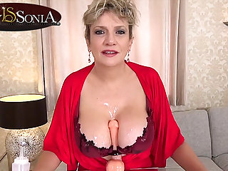 More jerk off instructions from big-busted mature Lady Sonia