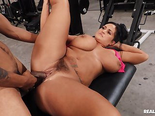 Chubby whore with giant tits, first maturity interracial fucked winning gym