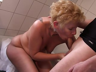 Lounge pussy licking and dick sucking prevalent mature amateurs