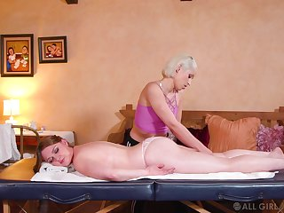 Sensual dolls share their lasciviousness during a massage tryout
