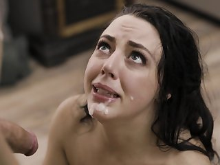 Shy neonate Whitney Wright enjoys having sex with a bald from