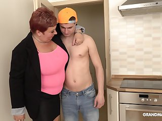 Bossy mature bitch is having sex fun with handsome rent boy
